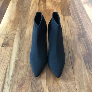 Black Knit Sock Booties